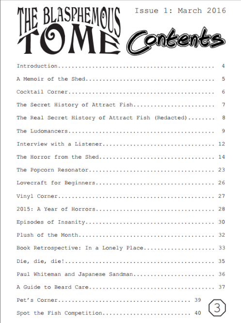 Issue 1 ToC