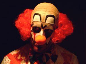 Unsettling clown
