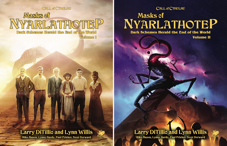Masks of Nyarlathotep book covers