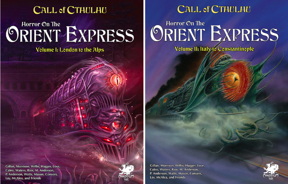 Horror on the Orient Express reprint covers