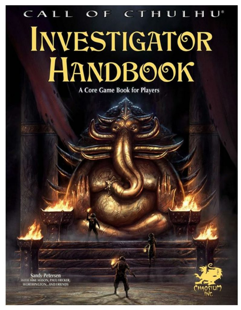 call of cthulhu investigator handbook cover