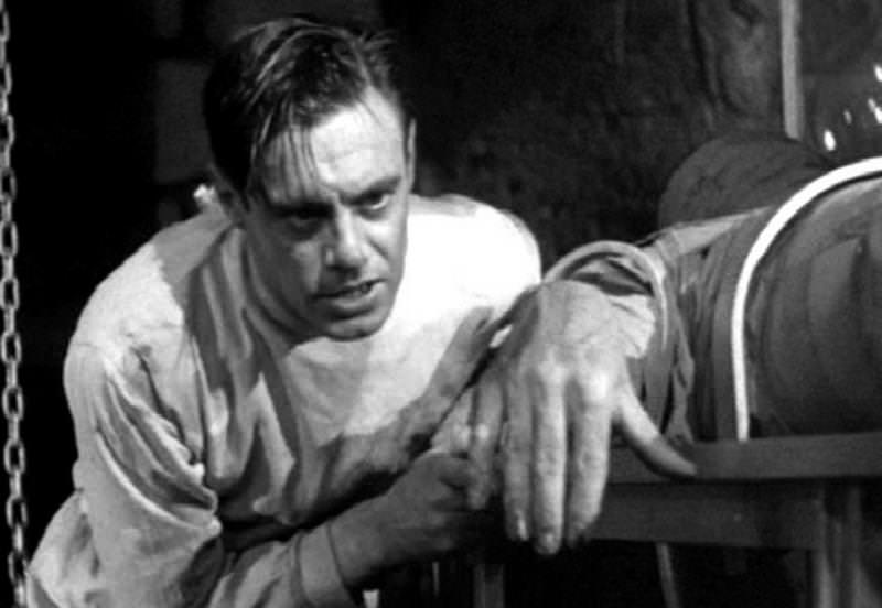 Colin Clive as the archetypal mad scientist in Frankenstein (1931)