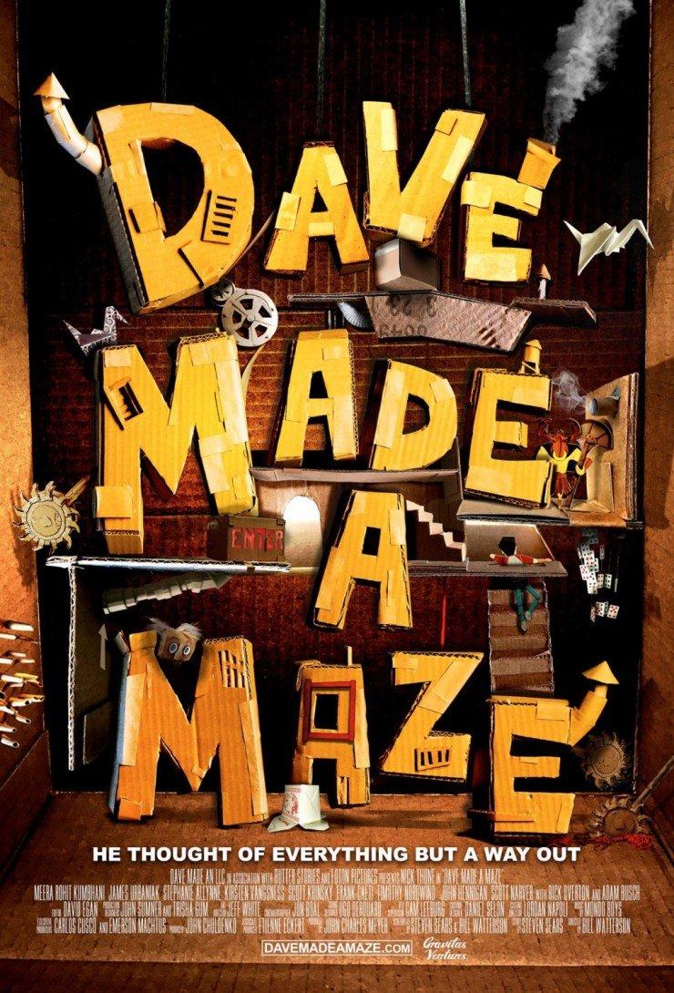 dave made a maze film poster